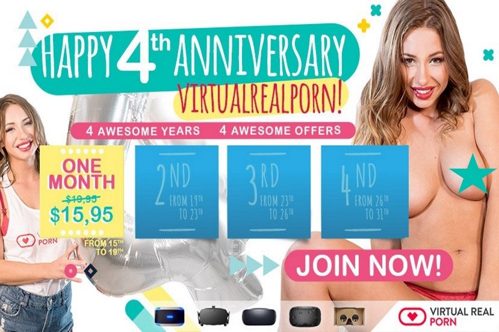 VirtualRealPorn Celebrates 4 Years VR Porn