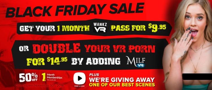 Black Friday & Cyber Monday VR Porn Deals WankzVR