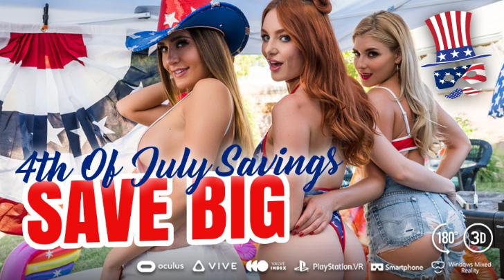 A VR Porn 4th of July 2021 WankzVR